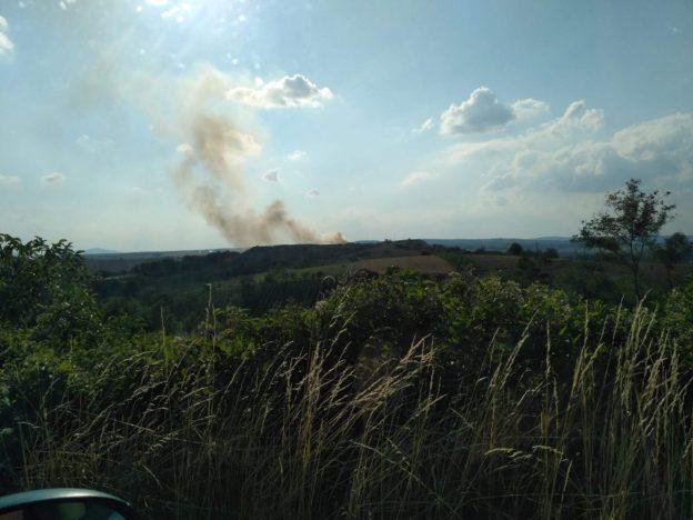 Skládka Hraničky - Hoří
